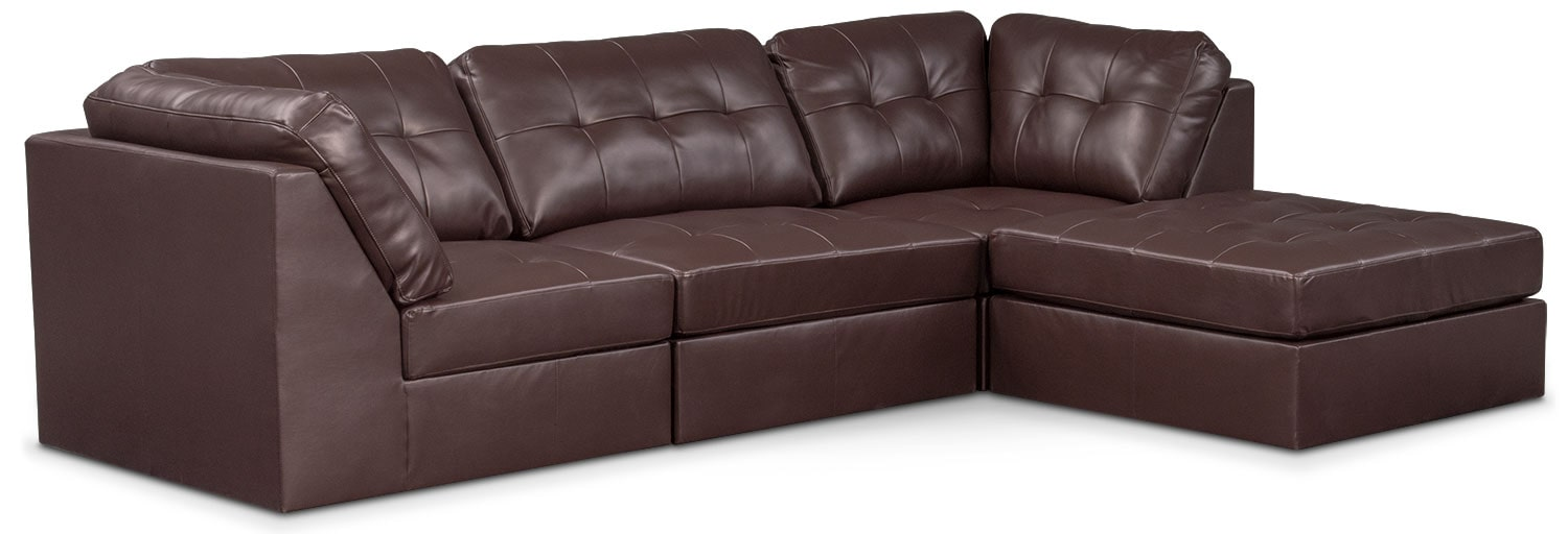Living Room Furniture - Cayenne 4-Piece Sectional - Godiva