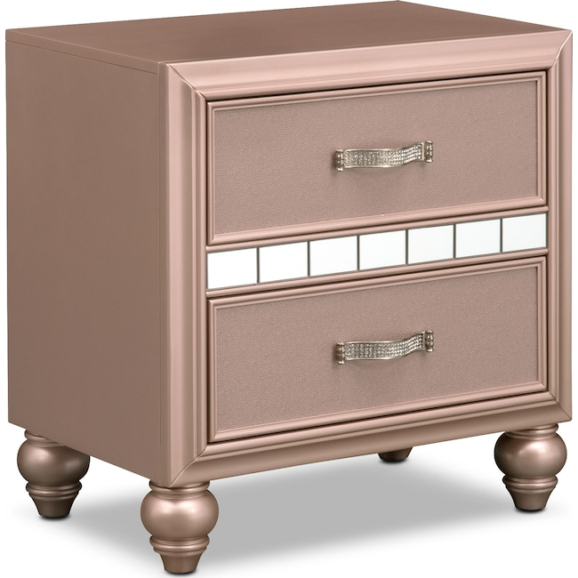 Bedroom Furniture - Serena Youth Nightstand - Rose Quartz