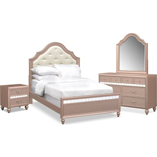 Serena Youth 6-Piece Full Bedroom Set - Rose Quartz