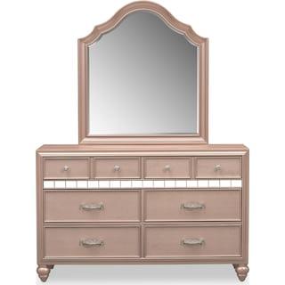 Serena Dresser and Mirror - Rose Quartz