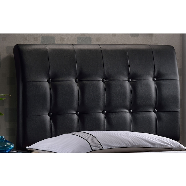 Bedroom Furniture - Lusso Twin Headboard - Black