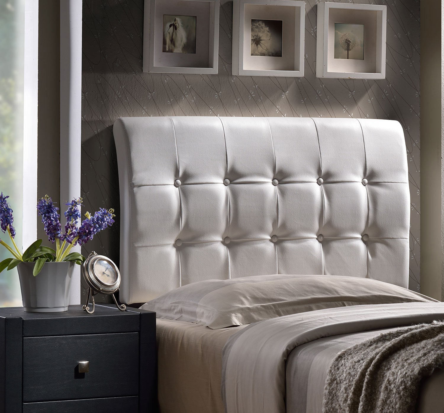 Bedroom Furniture - Lusso King Headboard - White