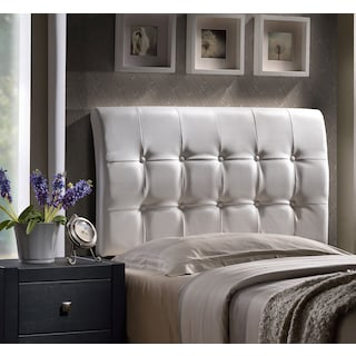 Lusso Full Headboard - White