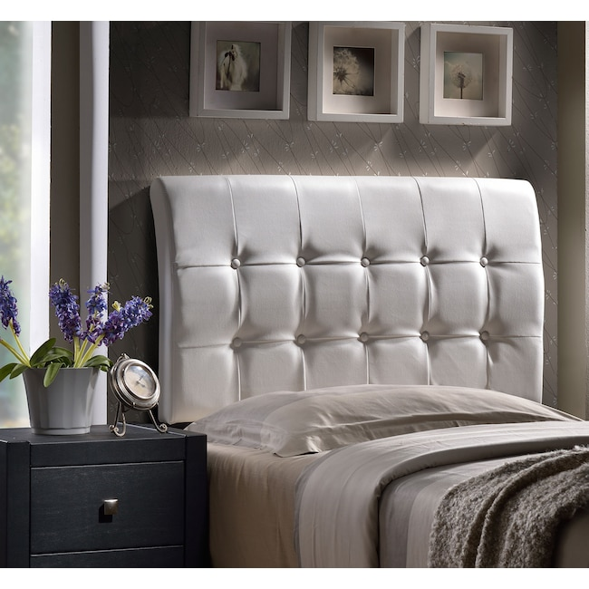 Bedroom Furniture - Lusso Twin Headboard - White