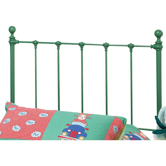 Bedroom Furniture - Molly Twin Headboard - Green