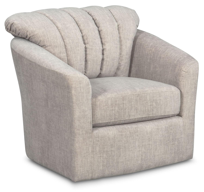 Living Room Furniture - Parker Swivel Chair - Gray