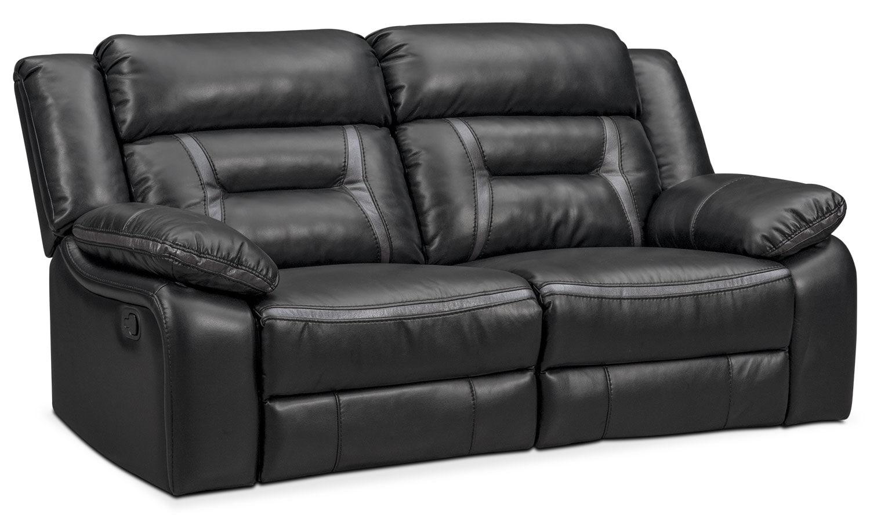 Remi 2-Piece Manual Reclining Sofa - Black