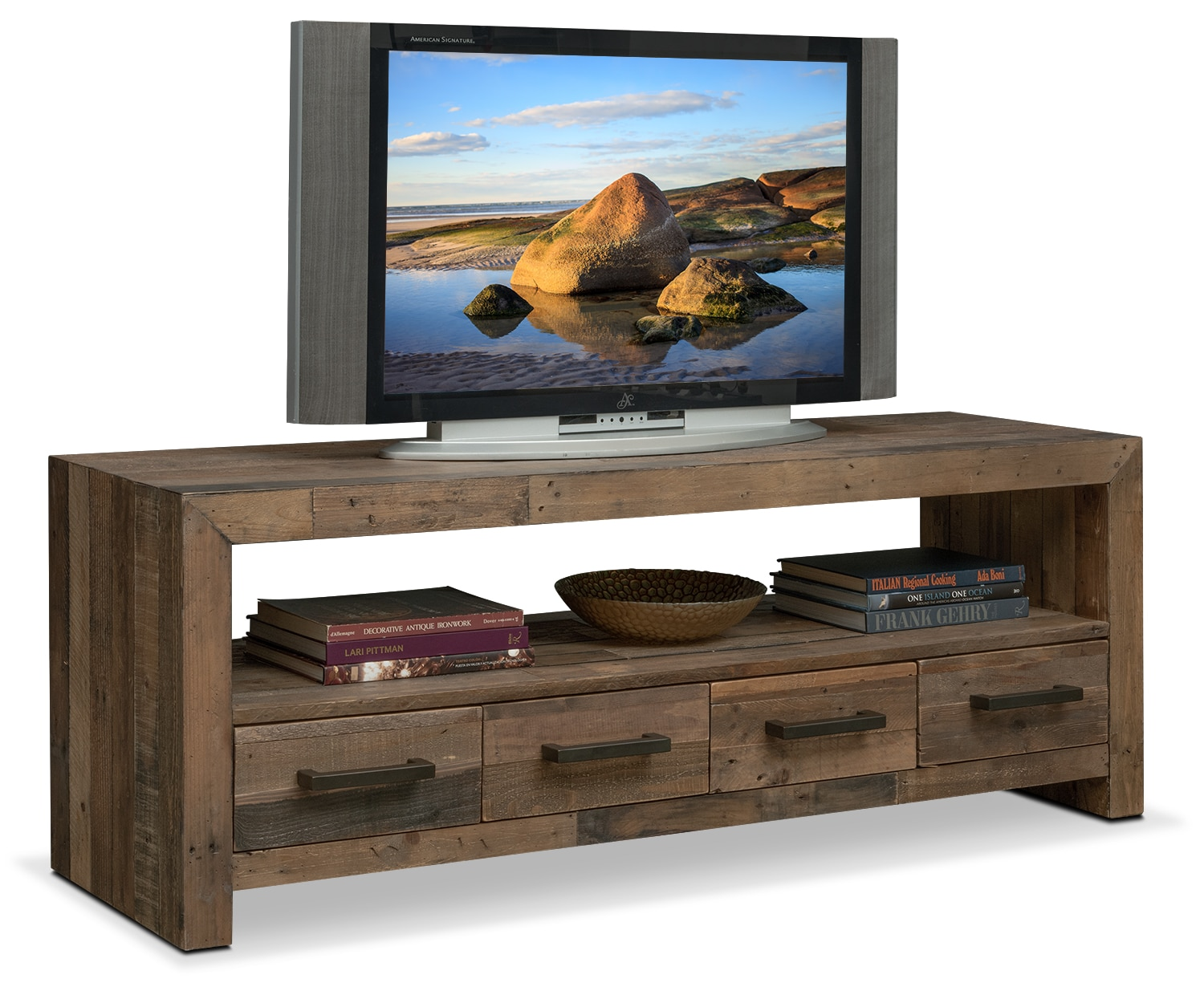 """Accent and Occasional Furniture - Rancho 63"""" TV Stand - Pine"""