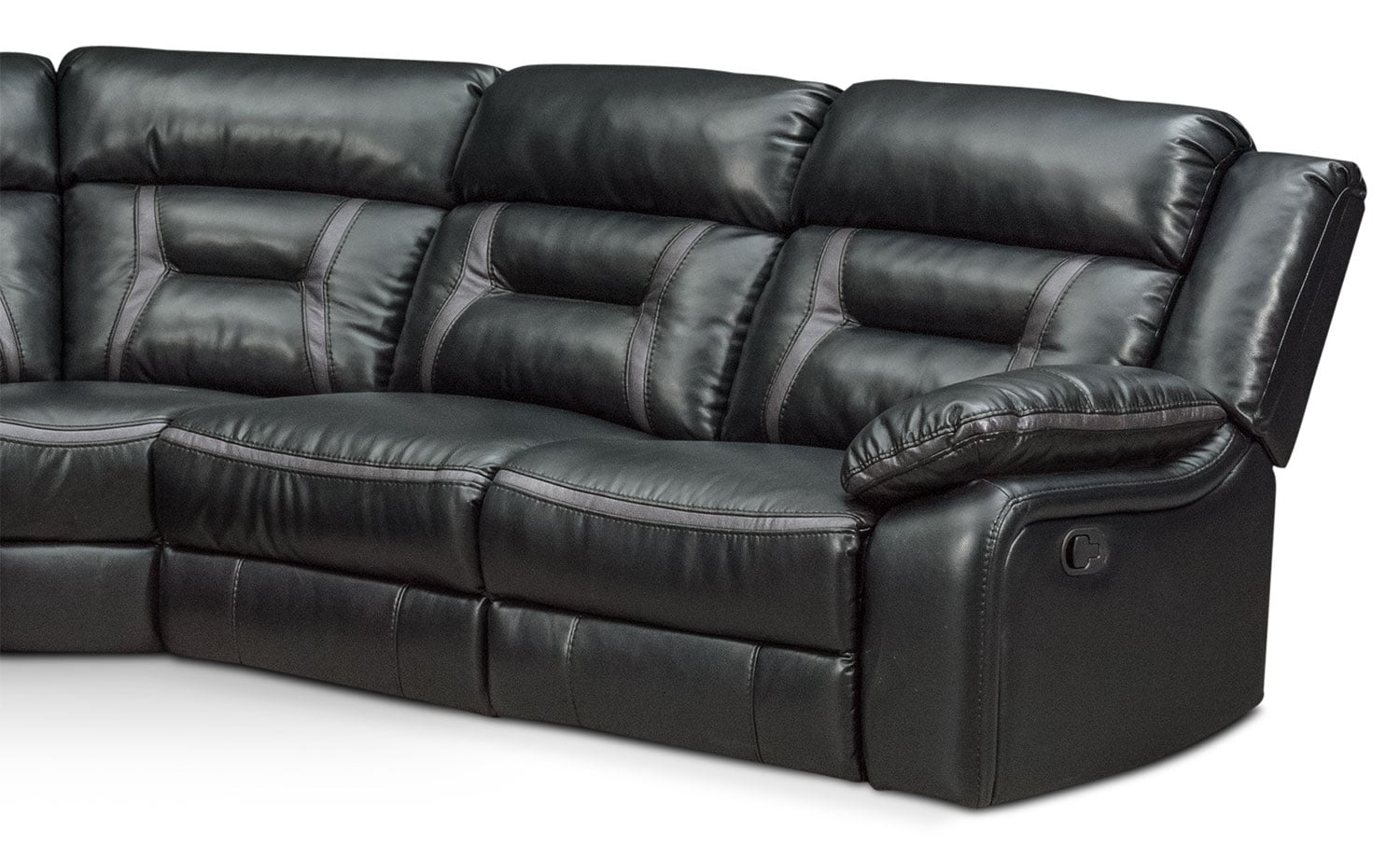 Click to change image.  sc 1 st  Value City Furniture & Remi 5-Piece Manual Reclining Sectional with 2 Reclining Seats ... islam-shia.org