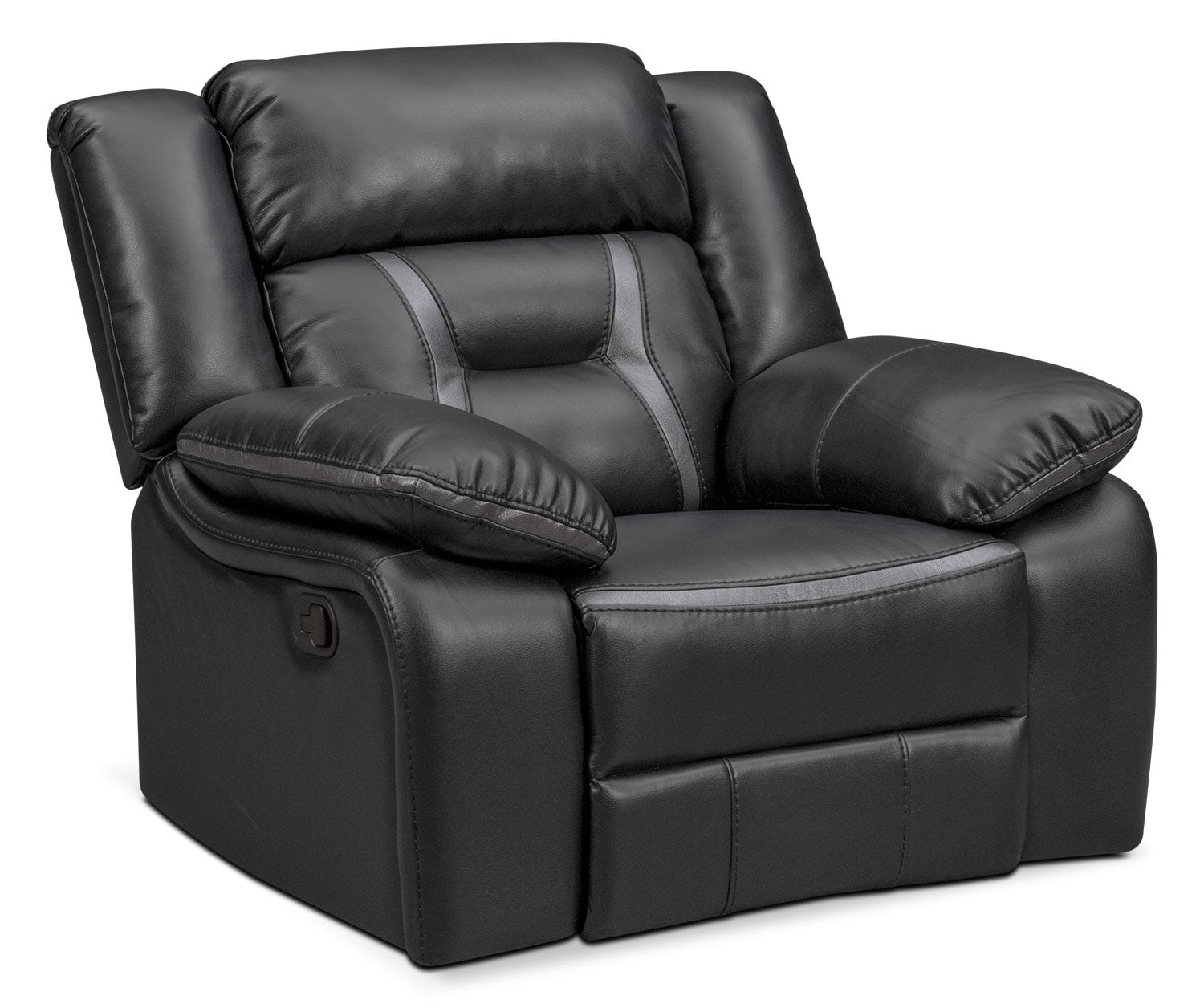 Remi Manual Glider Recliner - Black