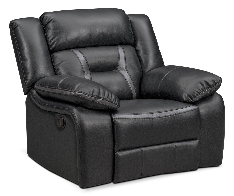 Living Room Furniture - Remi Manual Glider Recliner - Black