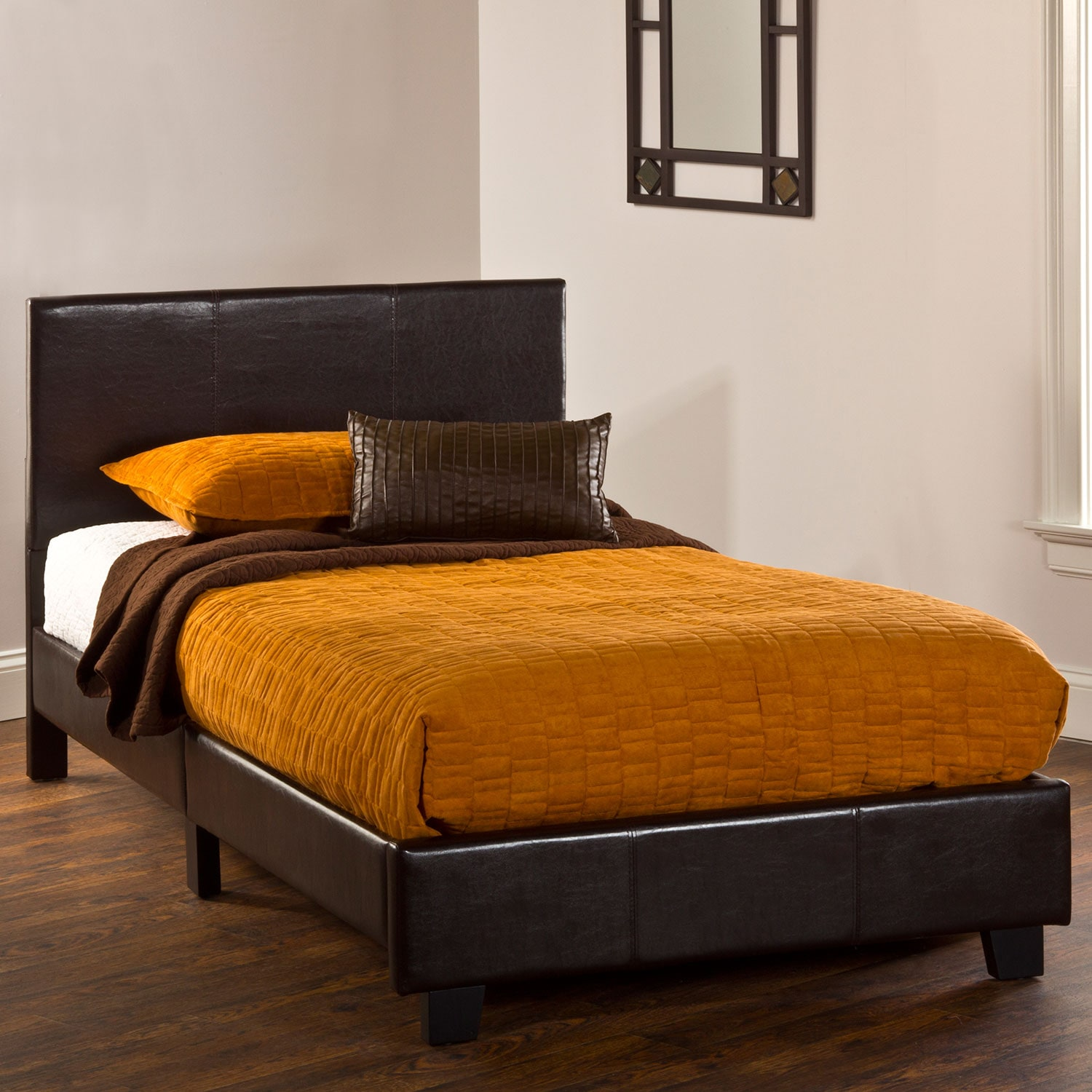 Spring Twin Bed in a Box - Brown