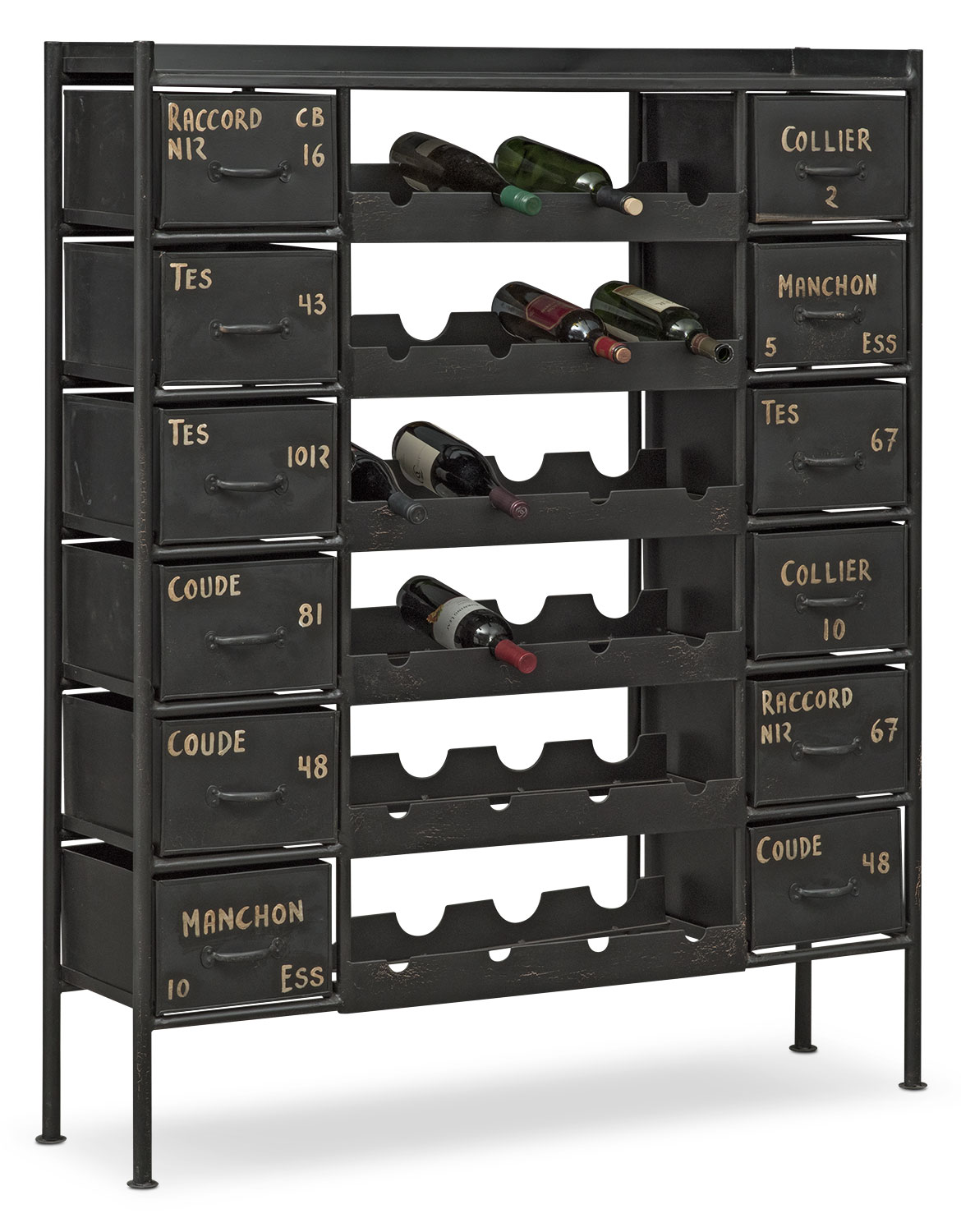 Wayland Wine Chest - Black
