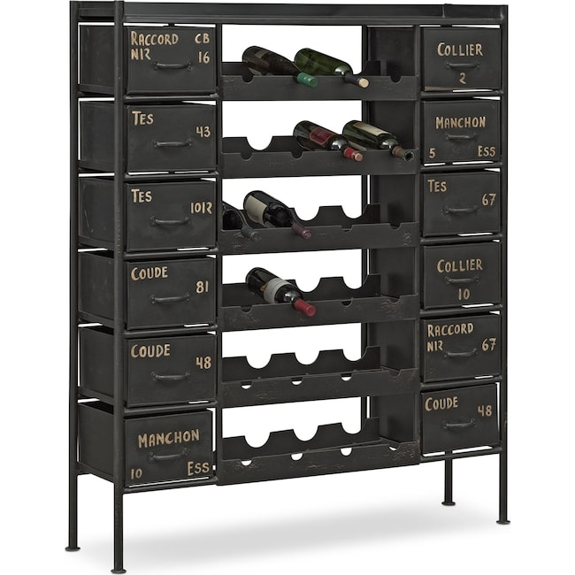 Dining Room Furniture - Wayland Wine Chest - Black