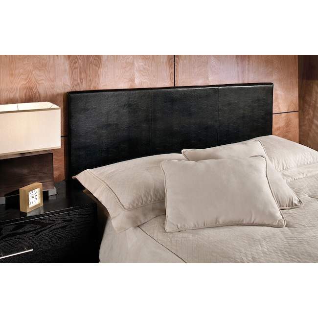 Bedroom Furniture - Spring Twin Headboard - Black