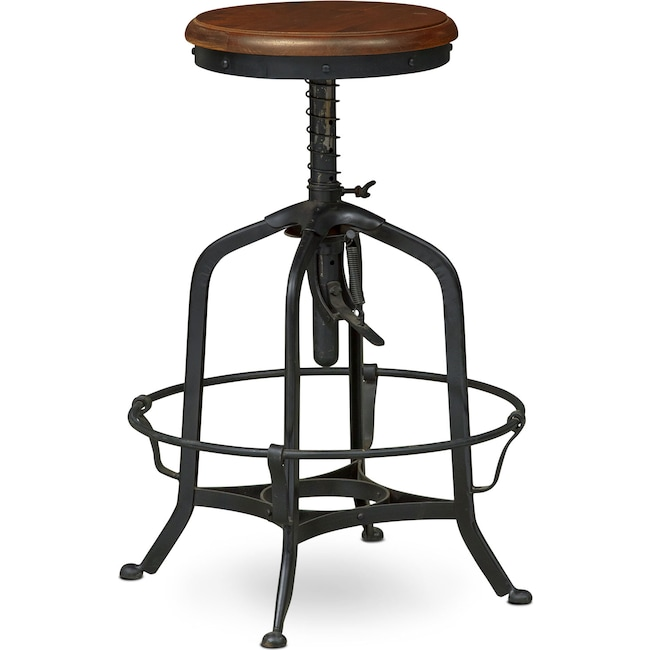 Dining Room Furniture - Barlow Adjustable Stool - Black