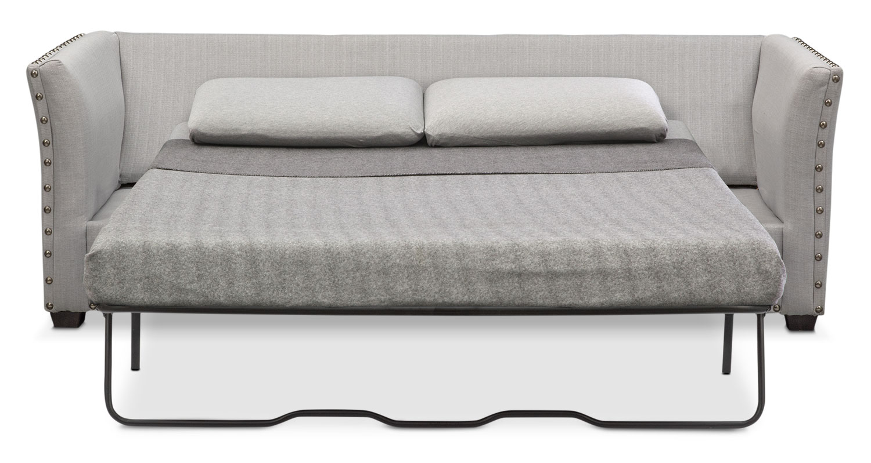 Mckenna Queen Memory Foam Sleeper Sofa Pewter Value