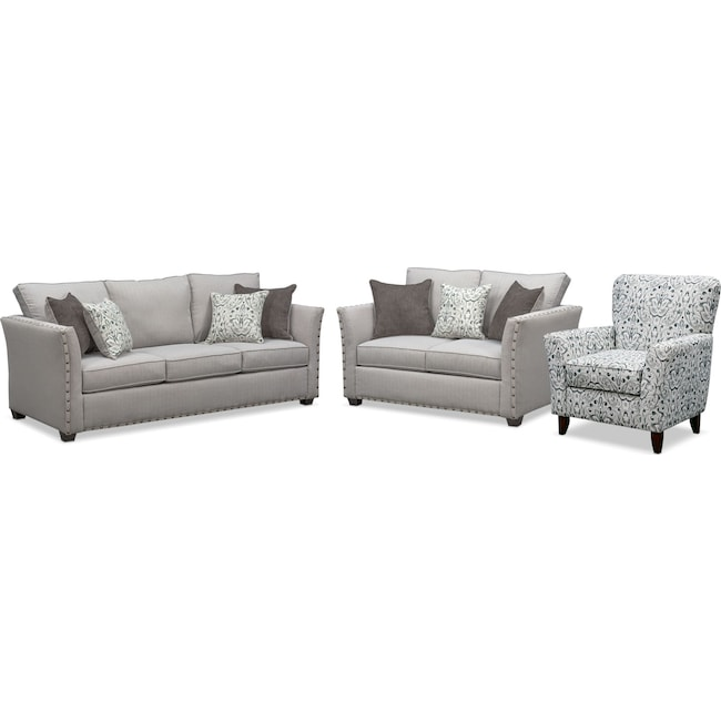 Living Room Furniture - Mckenna Sofa, Loveseat, and Accent Chair