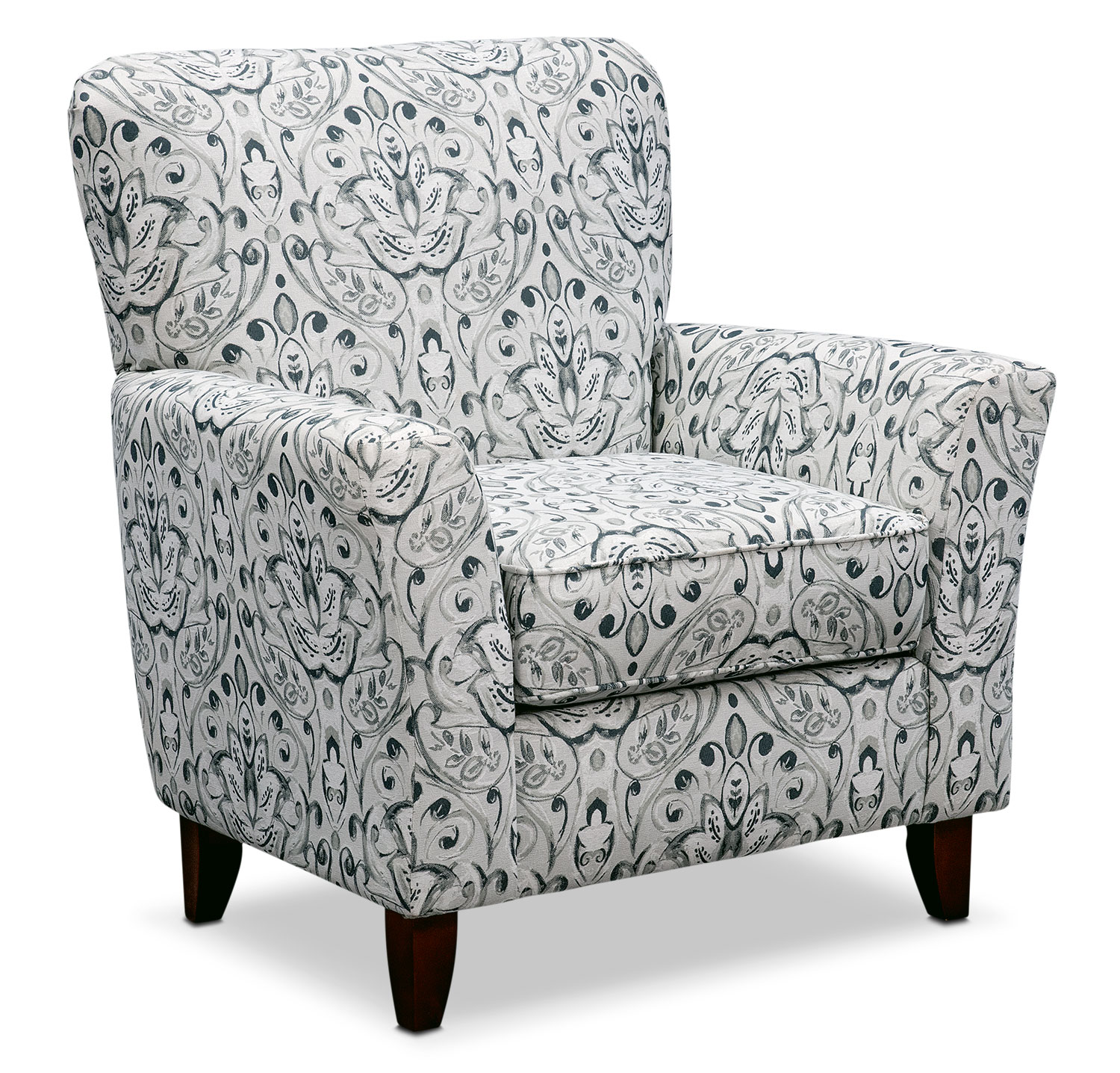 Living Room Furniture - Mckenna Accent Chair - Multi Pewter