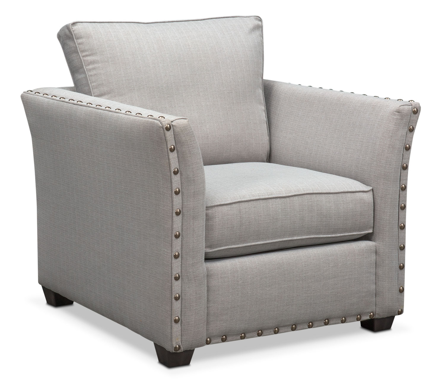 Living Room Furniture - Mckenna Chair - Pewter