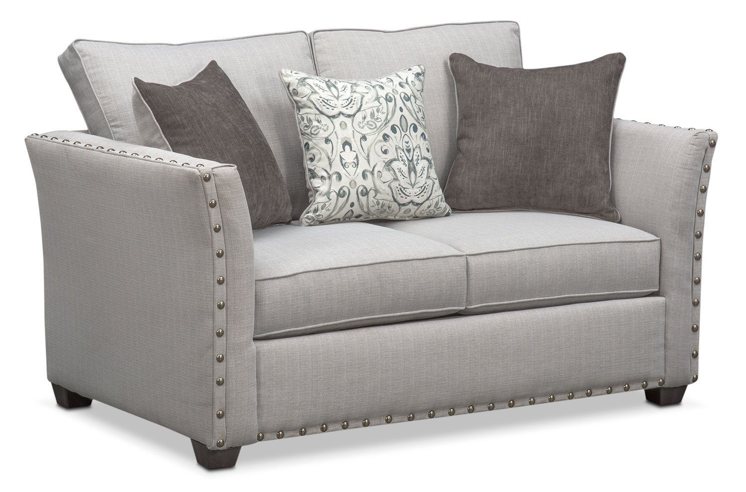 Living Room Furniture - Mckenna Loveseat - Pewter