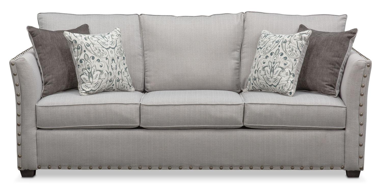 Mckenna Sofa Pewter Value City Furniture And Mattresses