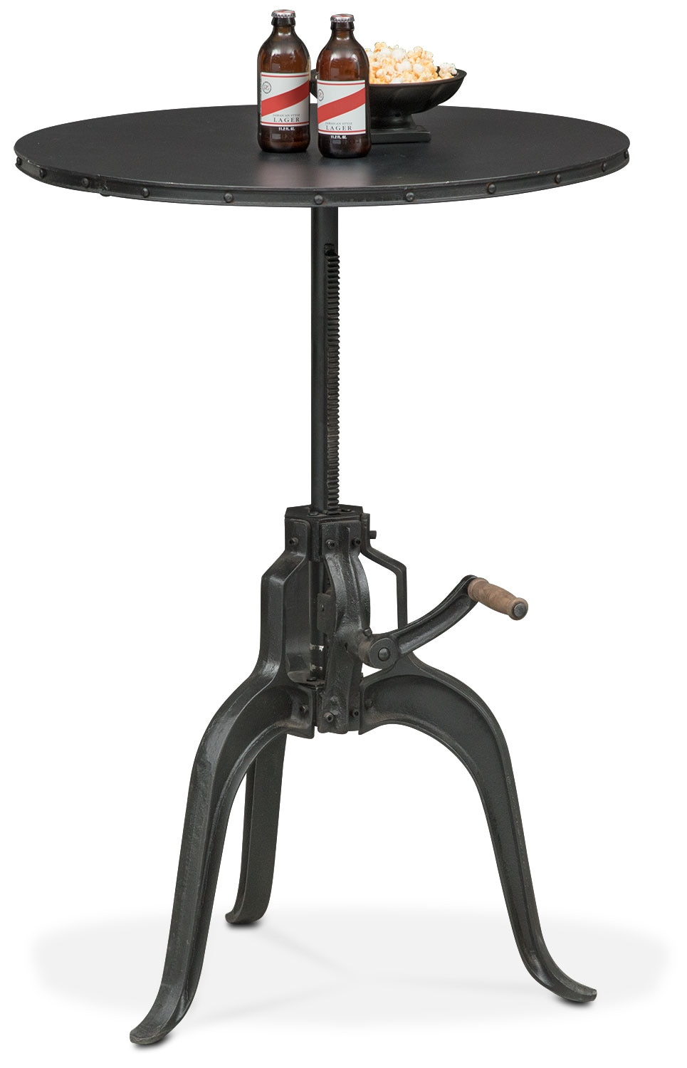 Derrik Adjustable Crank Table - Black