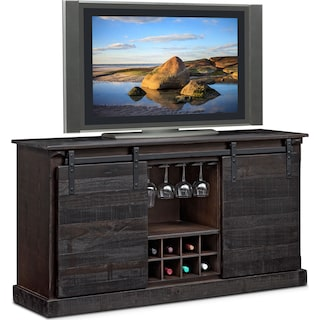 """Ashcroft 65"""" TV Stand with Wine Storage - Charcoal"""