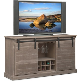 ashcroft media credenza with wine storage gray - Dining Room Storage Cabinets