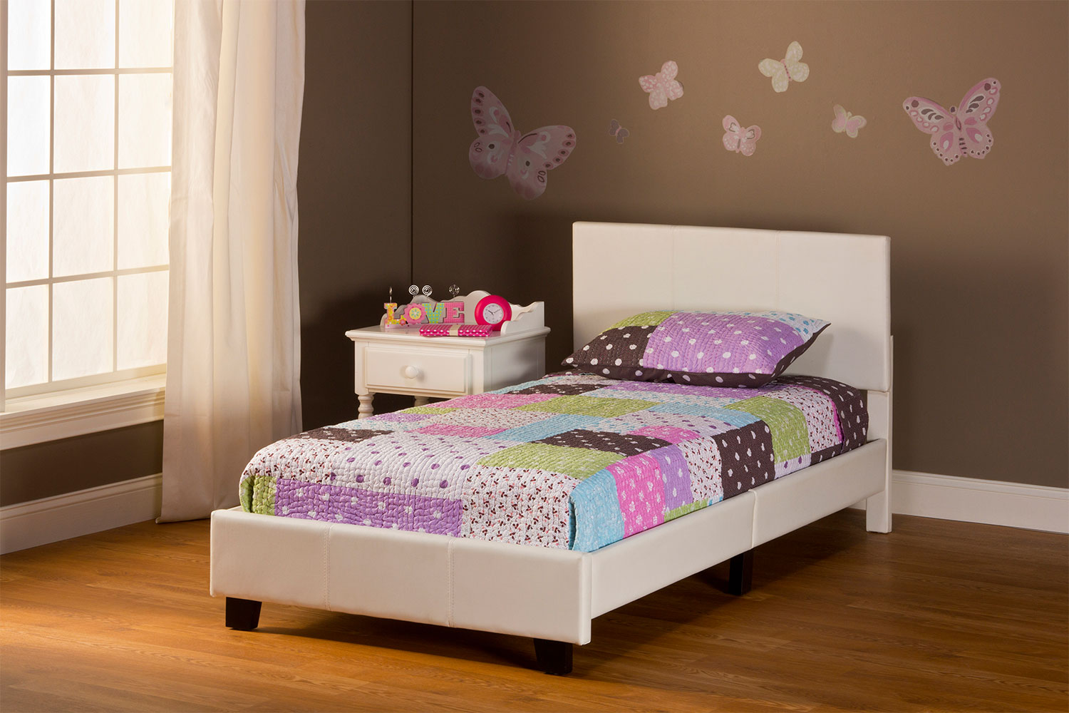 Bedroom Furniture - Spring Twin Bed in a Box - White