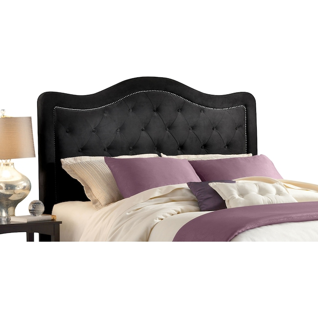 Bedroom Furniture - Tris Queen Headboard - Pewter