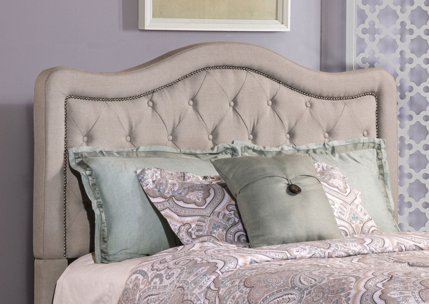 Bedroom Furniture - Tris Queen Headboard - Gray