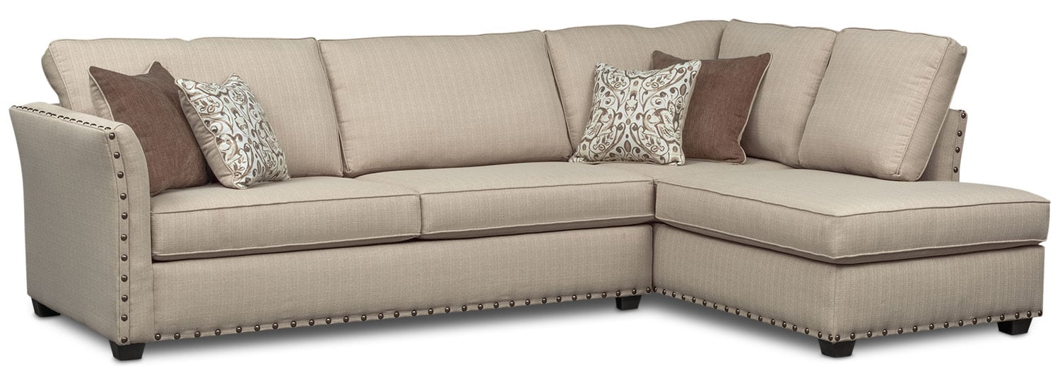 Mckenna 2-Piece Queen Innerspring Sleeper Sectional - Sand