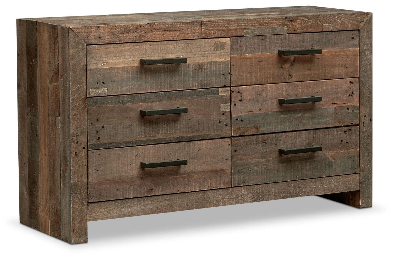 Bedroom Furniture - Rancho 6-Drawer Dresser - Pine