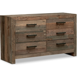 Rancho 6-Drawer Dresser - Pine