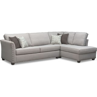 Mckenna 2-Piece Queen Innerspring Sleeper Sectional - Pewter