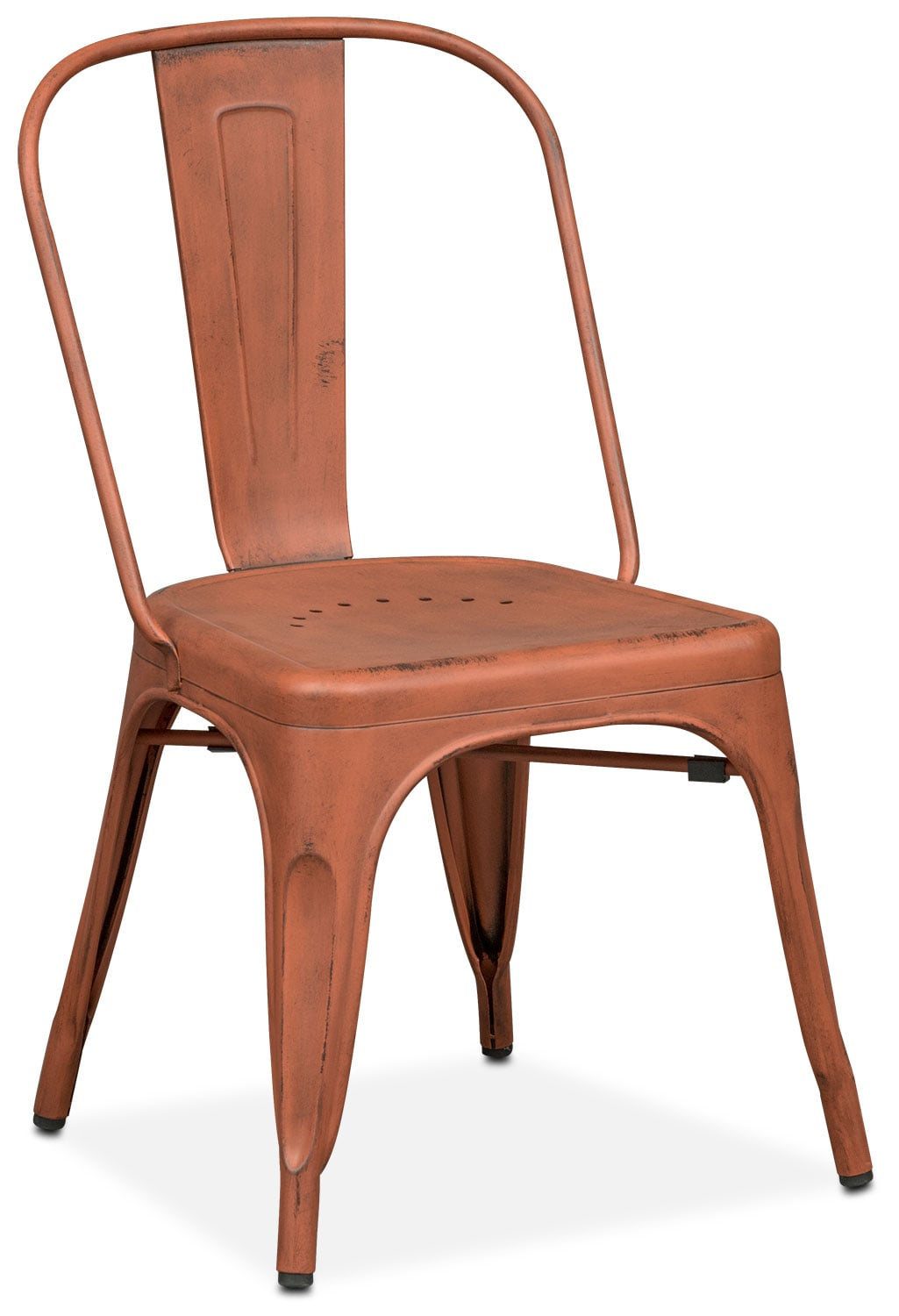 Olin Splat-Back Side Chair - Orange
