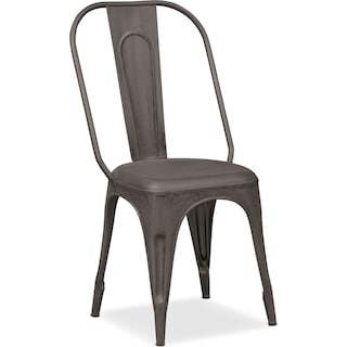 Holden Splat-Back Side Chair - Black