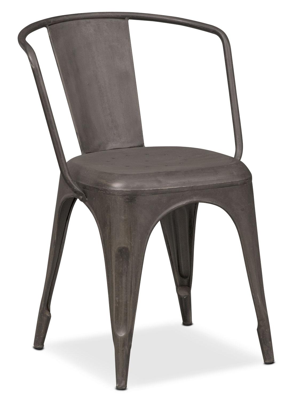 Dining Room Furniture - Holden Splat-Back Arm Chair - Black