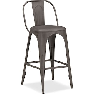Holden Splat-Back Barstool - Black