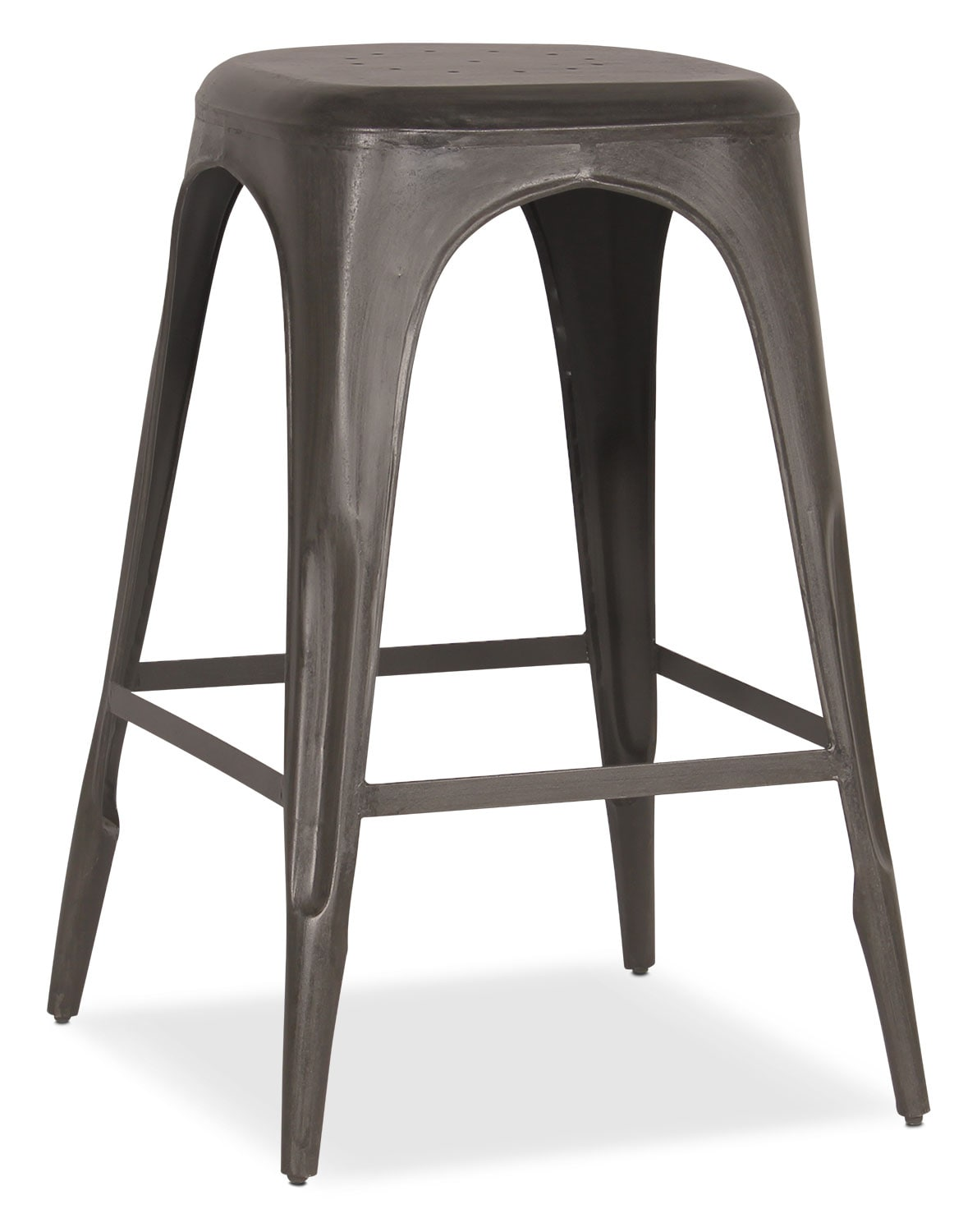 Holden Backless Barstool - Black