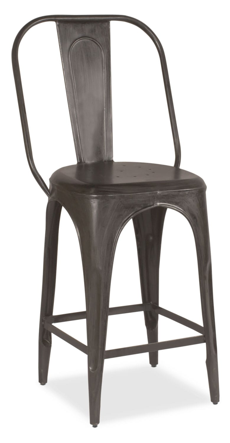 Holden Splat-Back Counter-Height Stool - Black