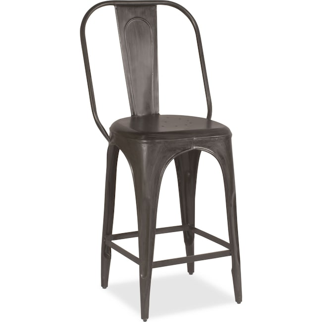 Dining Room Furniture - Holden Splat-Back Counter-Height Stool - Black