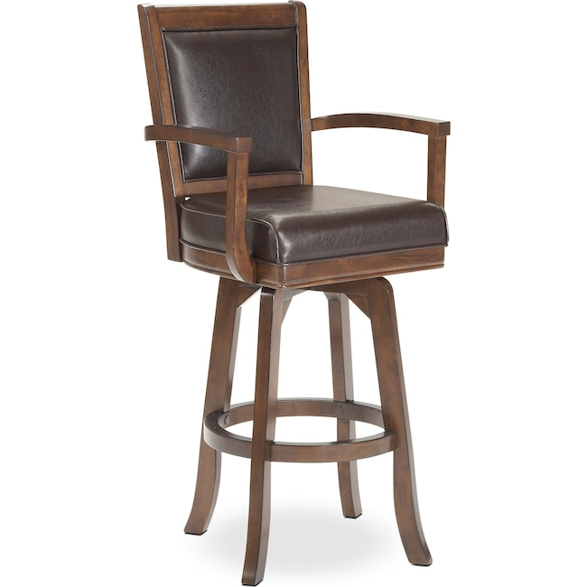 Accent and Occasional Furniture - Ambassador Swivel Barstool - Cherry