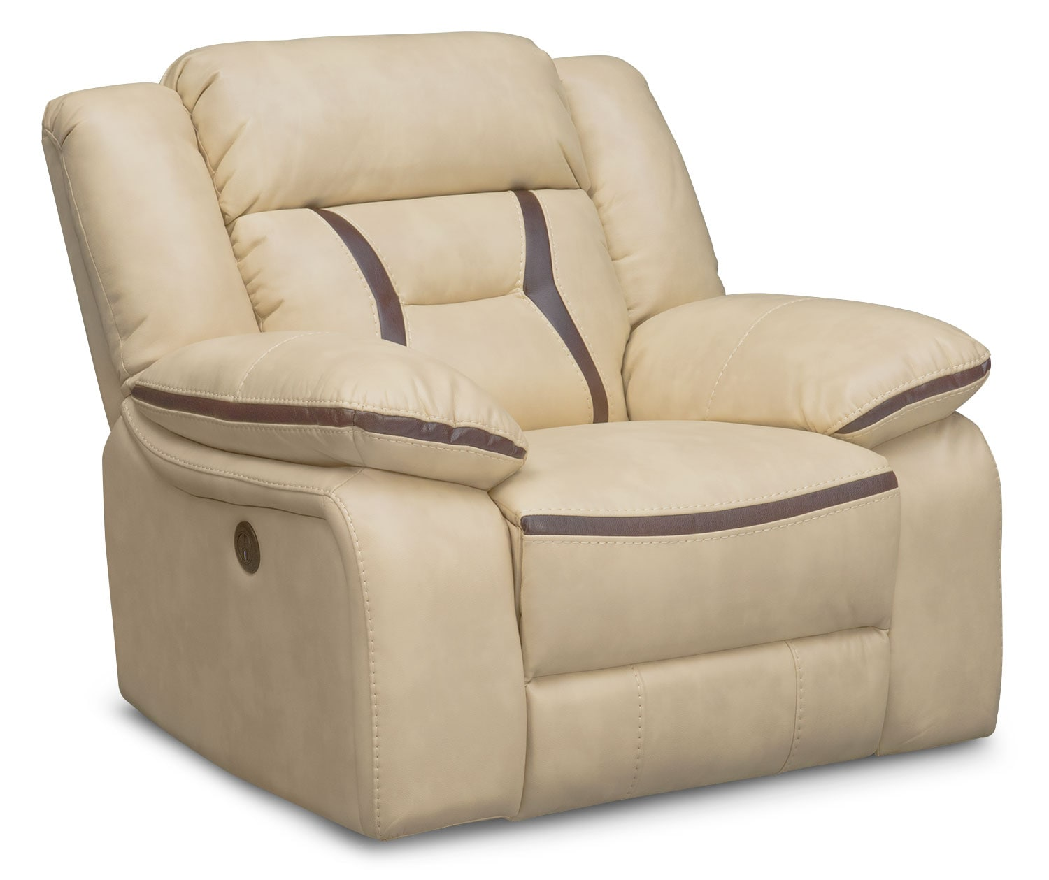 Living Room Furniture - Remi Power Glider Recliner - Cream