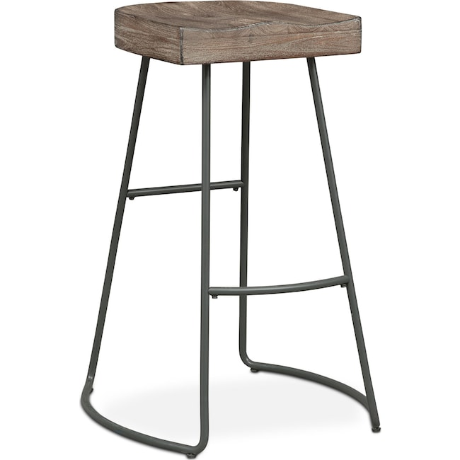 Dining Room Furniture - Foundry Barstool - Distressed Wood