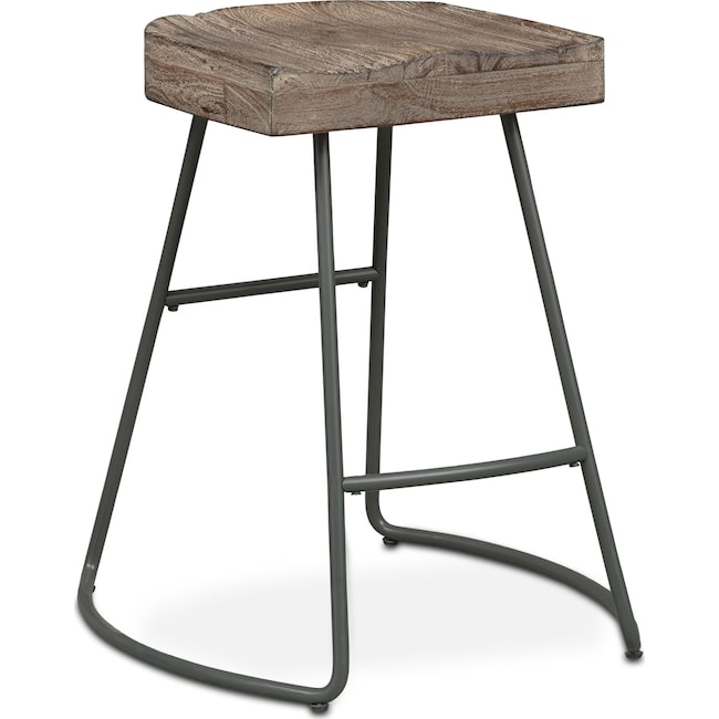 Dining Room Furniture - Foundry Counter-Height Stool - Distressed Wood