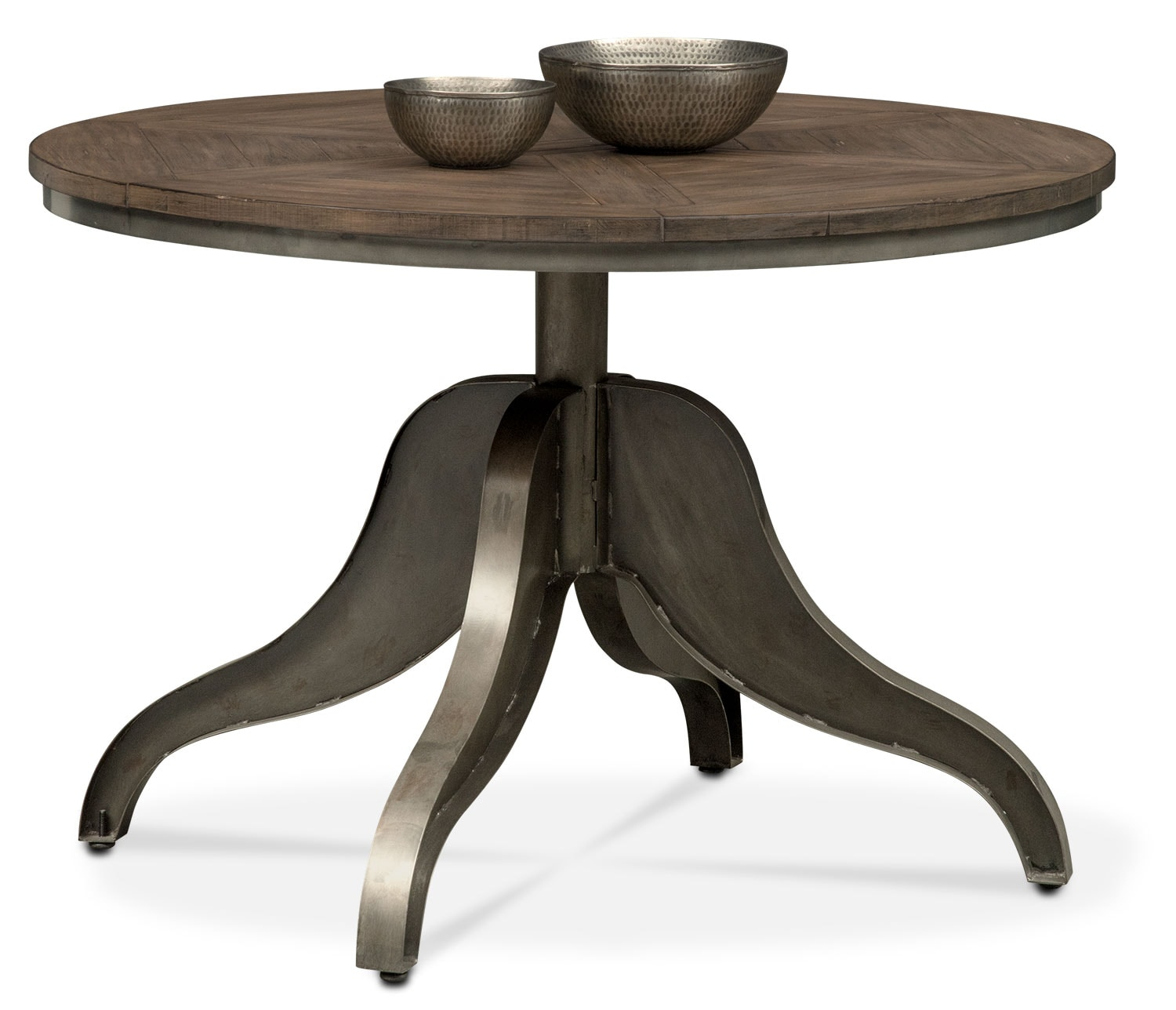 Dining Room Furniture - Cromwell Adjustable Dining Table - Distressed Wood