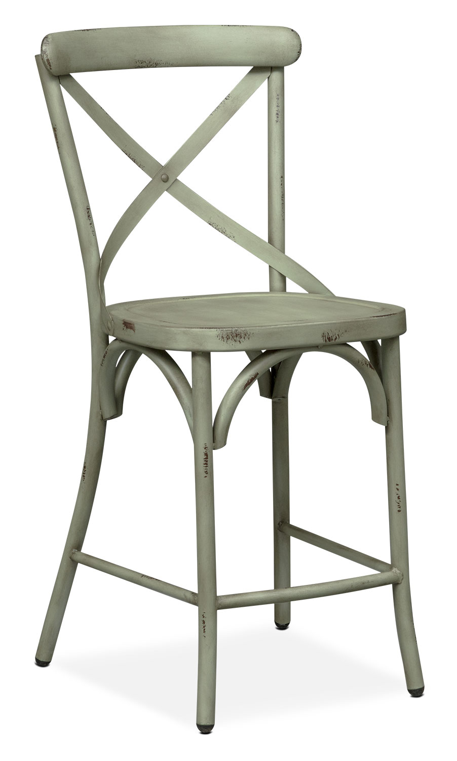 Saxon X-Back Counter-Height Stool - Green