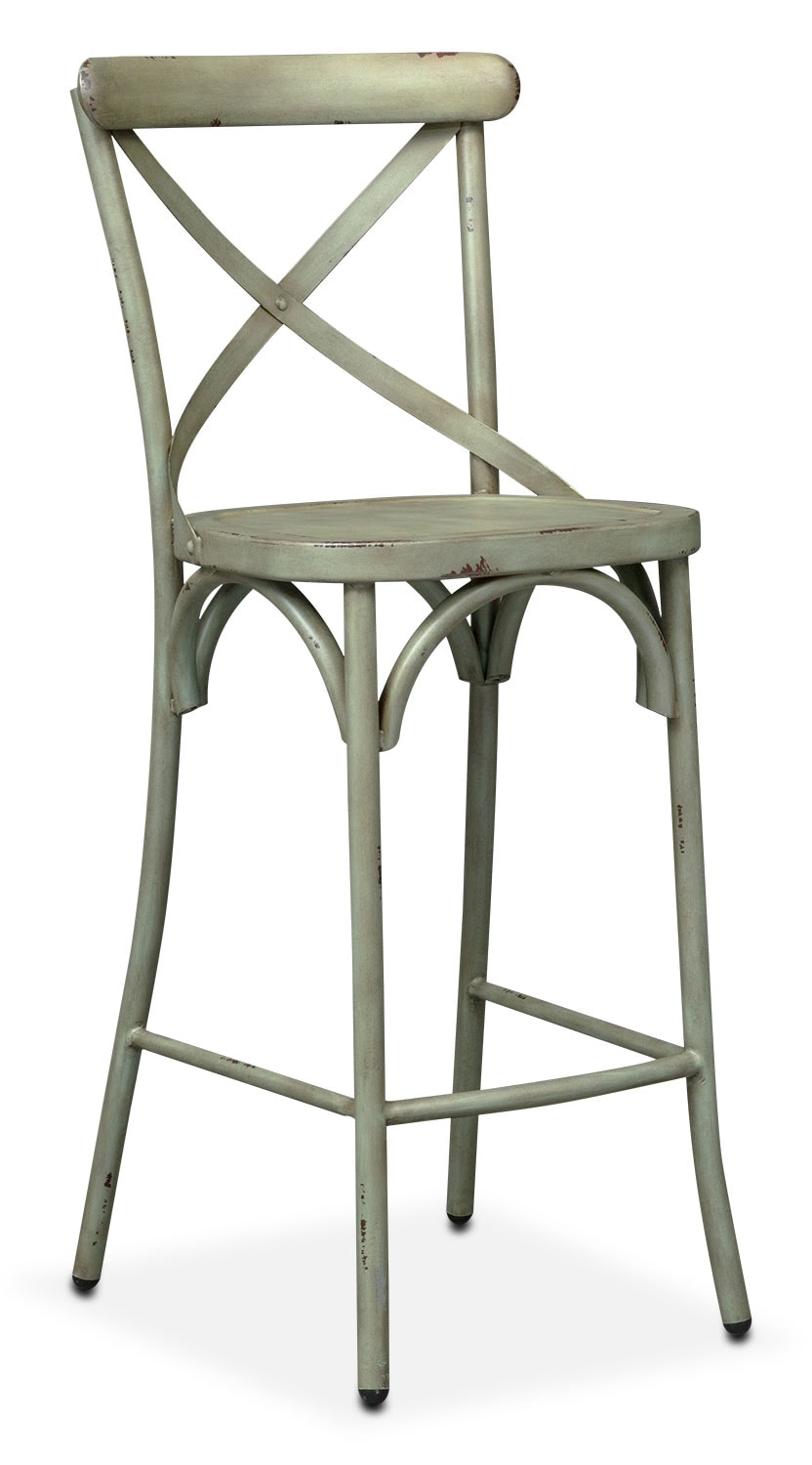 Dining Room Furniture - Saxon X-Back Barstool - Green